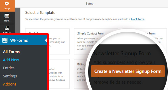 create a Constant Contact newsletter signup form