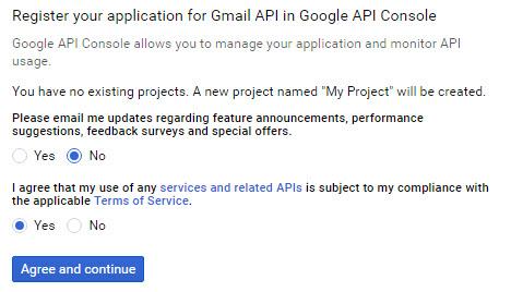 register application gmail smtp
