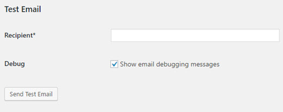 test email sparkpost smtp settings