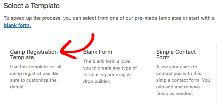 Add form with custom template