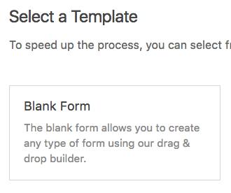 Form template description