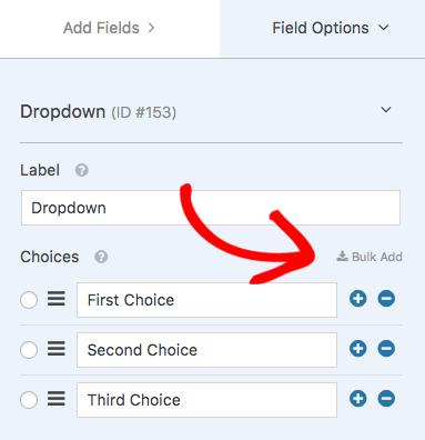 Dropdown Field Options