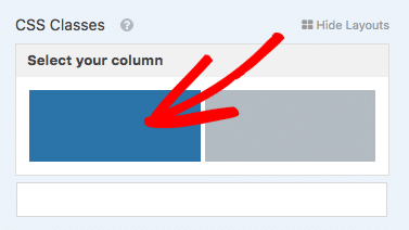 Select the display column for a field