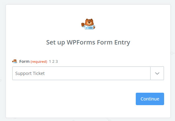 choose support ticket form in edit options
