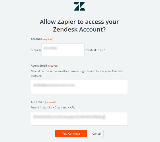 connect zapier to zendesk account