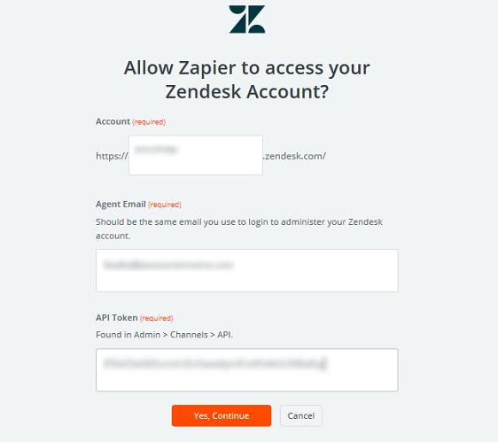 connect zapier to zendesk account