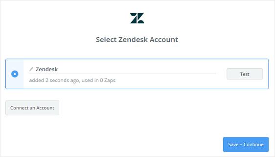 connected zendesk and zapier