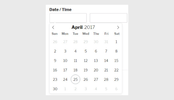 datepicker for mobile