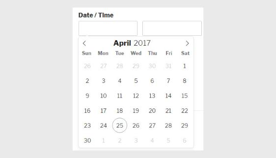 datepicker for mobile