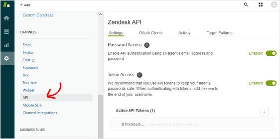 zapier api token in zendesk account