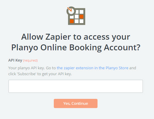 allow zapier to access planyo