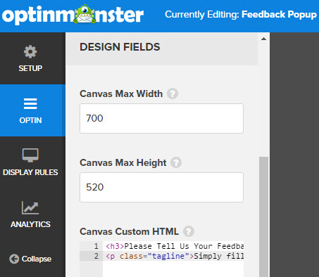canvas custom html