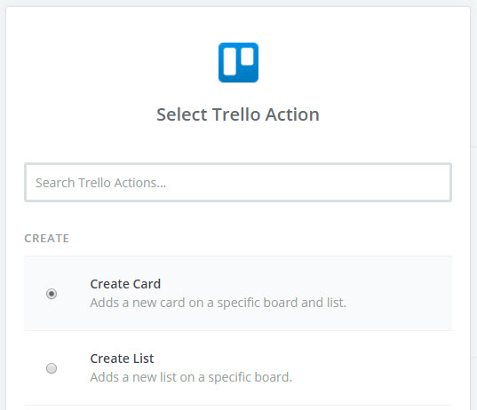 create trello card