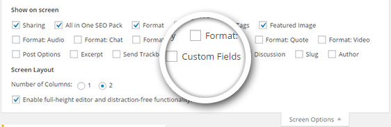 custom-fields-screen-option