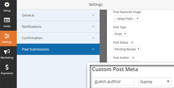 custom post meta in wordpress forms