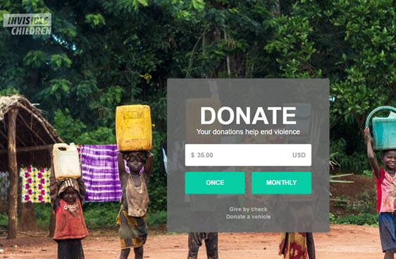invisible children- donation page