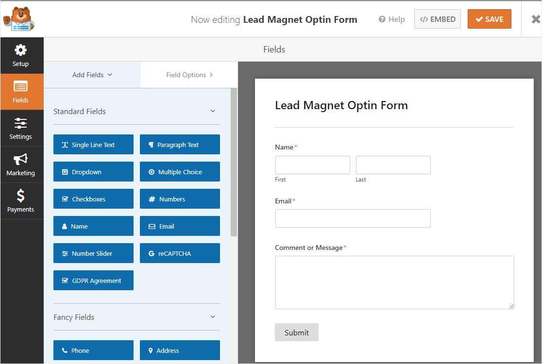 lead magnet optin form