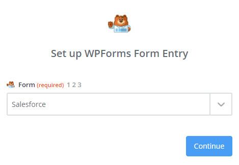 set up WPForms form entry