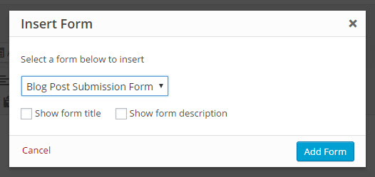 submit form