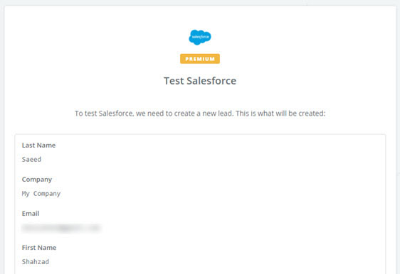 test salesforce