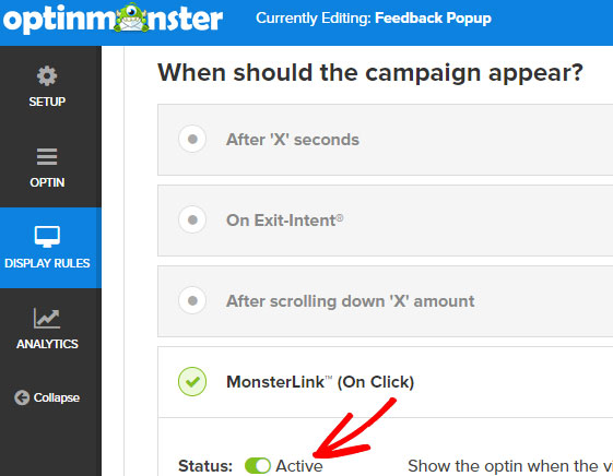 turn on monsterlink
