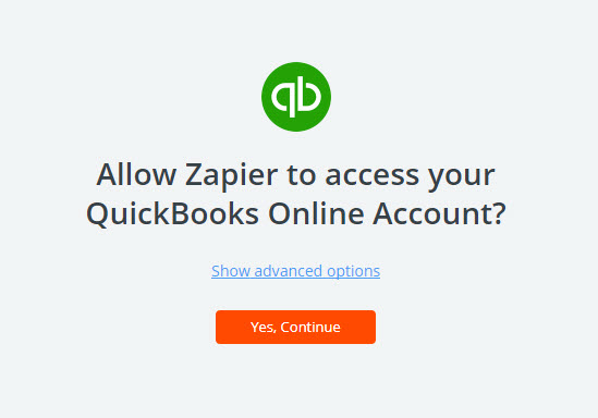 allow zapier to access quickbooks