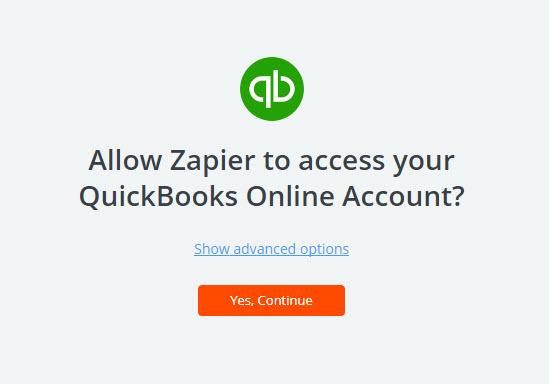 allow zapier to access quickbooks