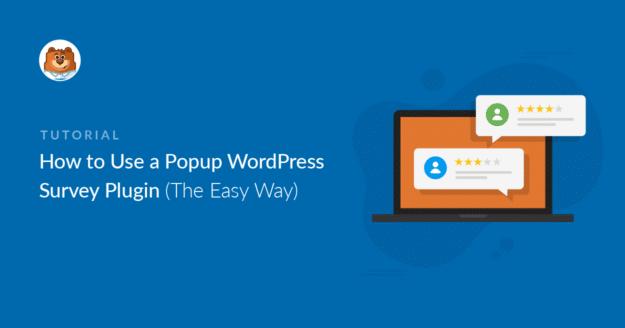 Popup survey WordPress plugin