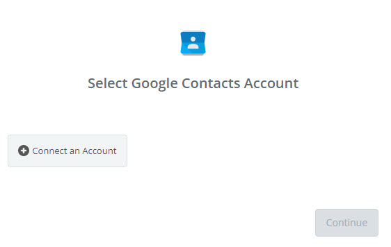 select google contacts account