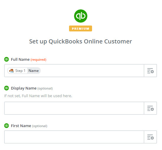 set up quickbooks online customer