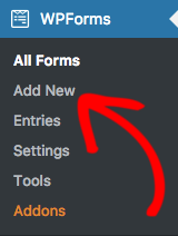 Add new form in WPForms
