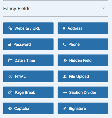 Fancy Fields available for WPForms