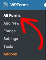 Go to WPForms All Forms