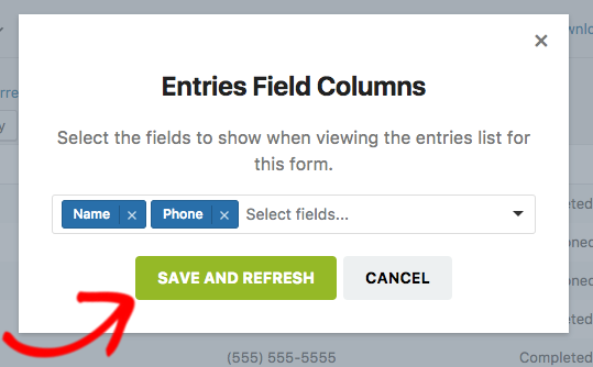 Save custom column selections