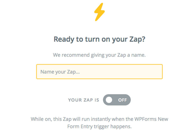 Send WordPress Form Entries to Basecamp - Turn On Zap