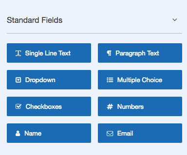 WPForms Standard Fields