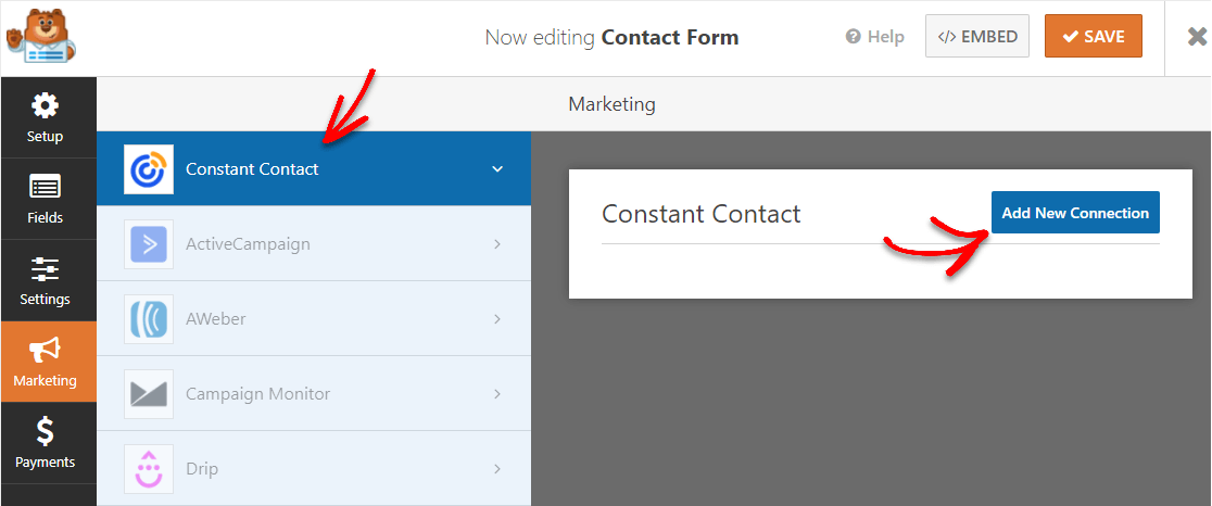add constant contact