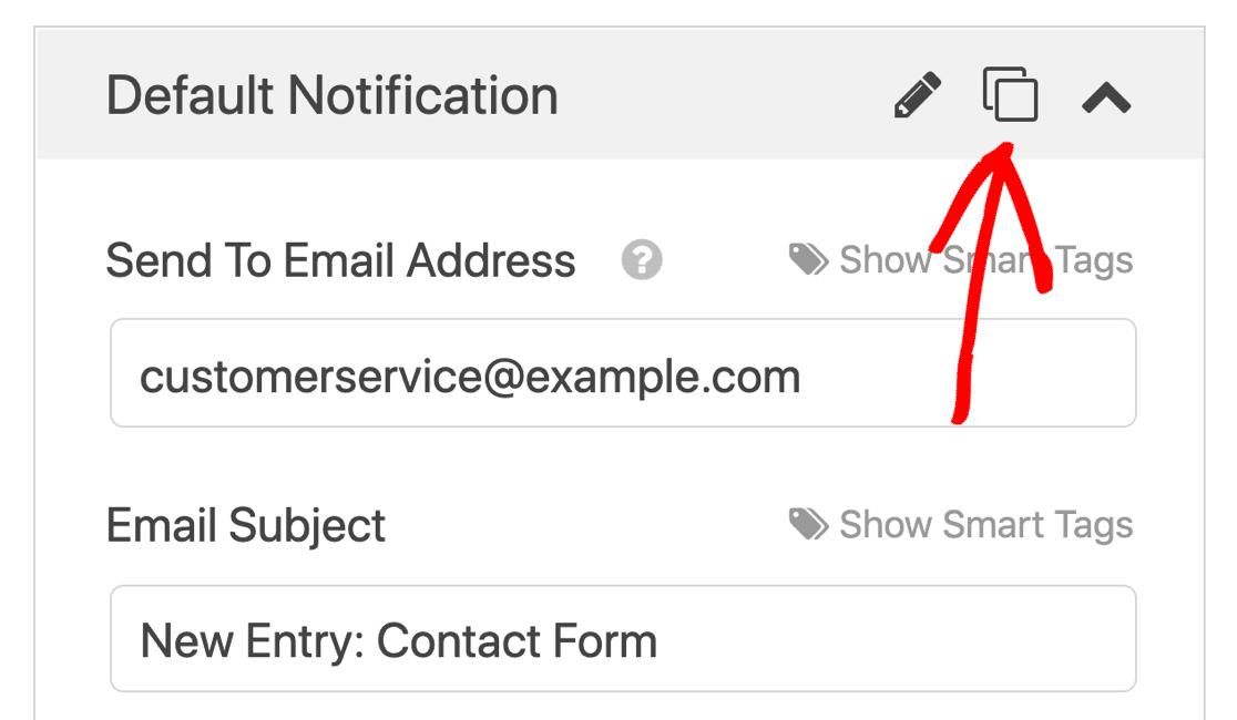 Clone notification in WPForms