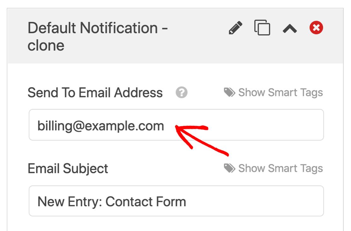 Edit cloned notification