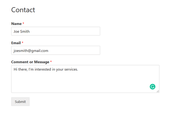 test your wordpress form automation
