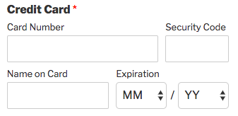 Credit Card field in WPForms