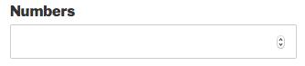 Numbers field in WPForms
