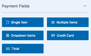 Payment Fields in WPForms