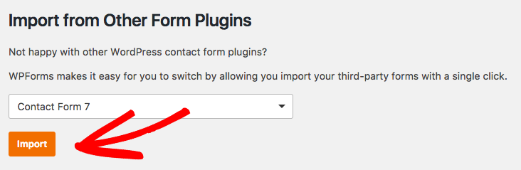 Select a form plugin and import