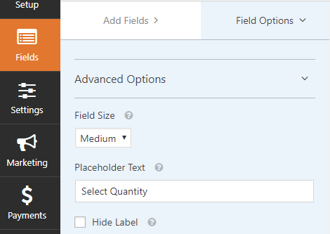 customize form product options