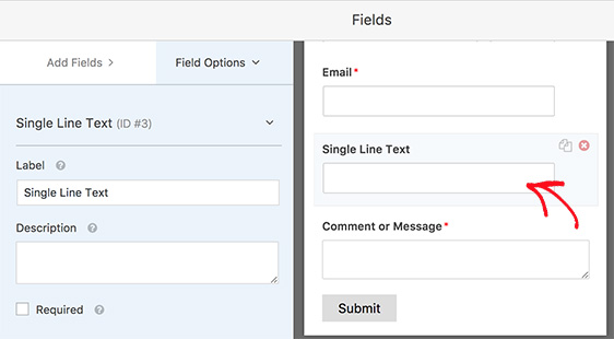 field options