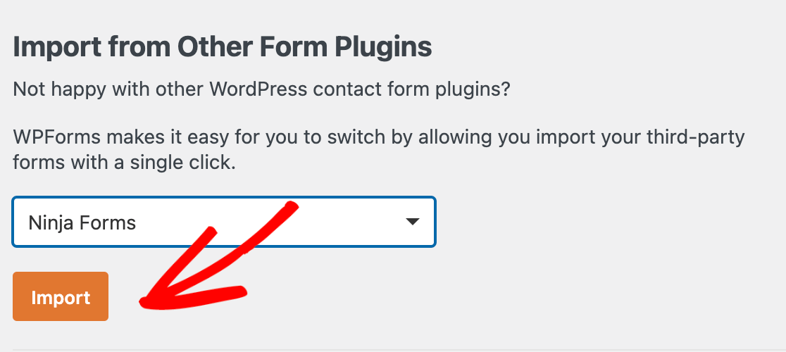 Importing from Ninja Forms to WPForms