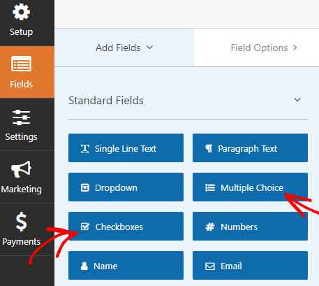 place images next to radio buttons and checkboxes