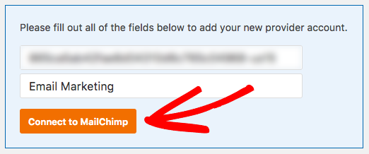 Add API key and nickname to MailChimp settings