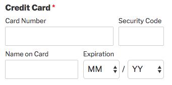 Credit Card field in WPForms